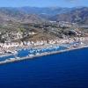 Foto aérea del puerto de la Caleta