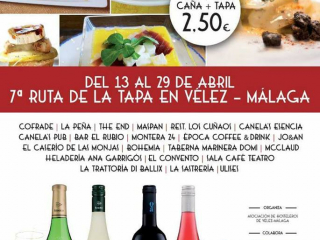 """7ª Ruta de la Tapa """"Ciudad de Vélez-Málaga"""""""
