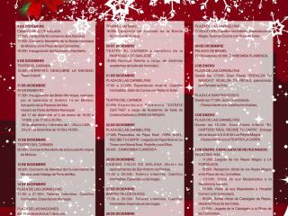 Programa de actividades Navideñas en Vélez-Málaga
