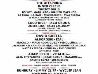 Cartel definitivo Weekend Beach Festival Torre del Mar 2018