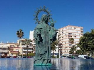 Fuente escultura Virgen del Carmen Patrona de los marineros